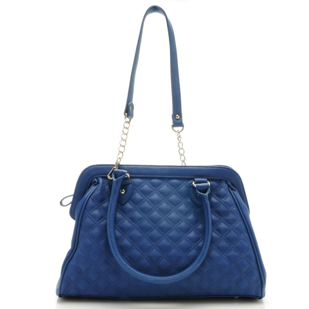 "712-645 - Carlos by Carlos Santana ""Laura"" Quilted Frame Satchel w/ Shoulder Strap"