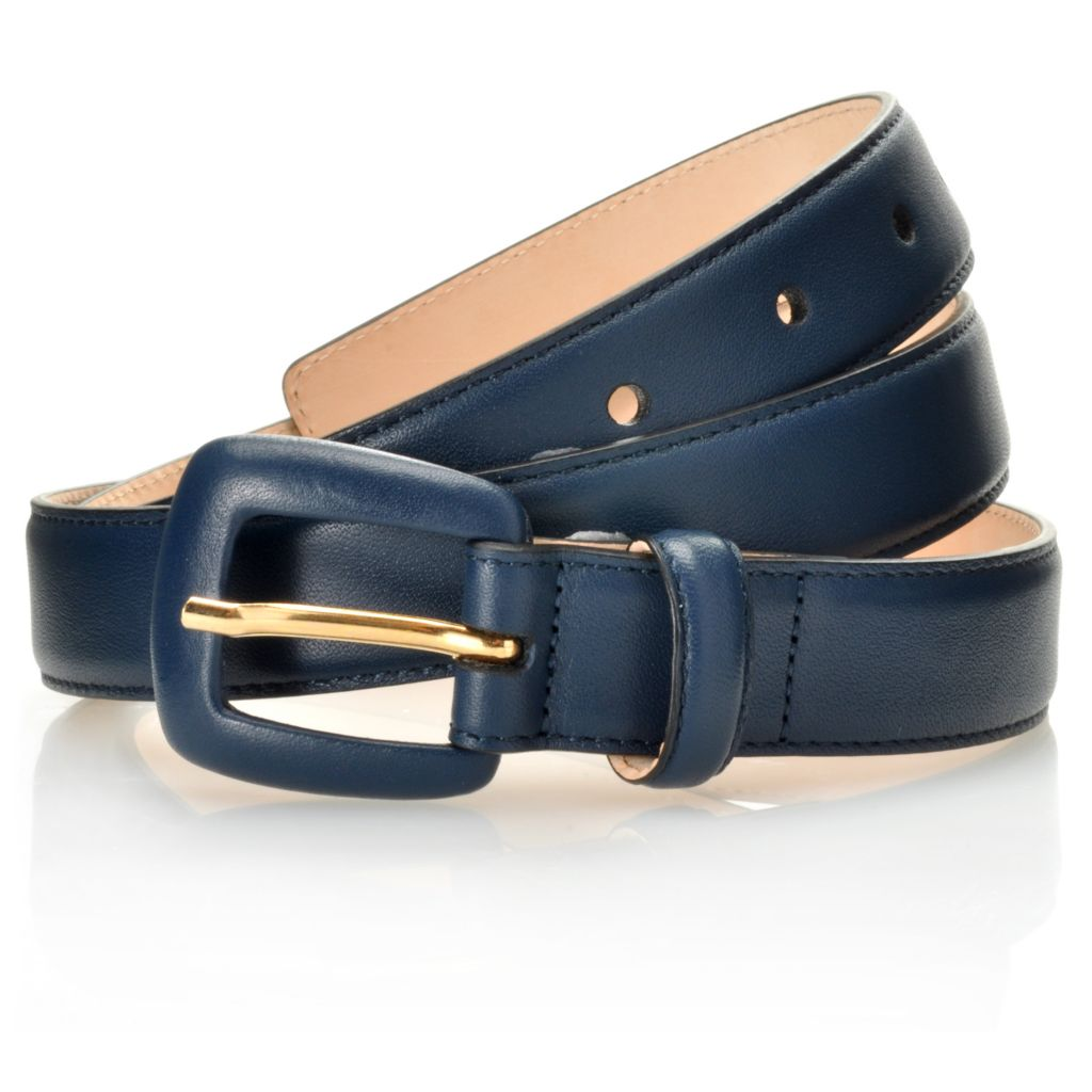712-663 - Brooks Brothers® Matte Leather Covered Buckle Belt