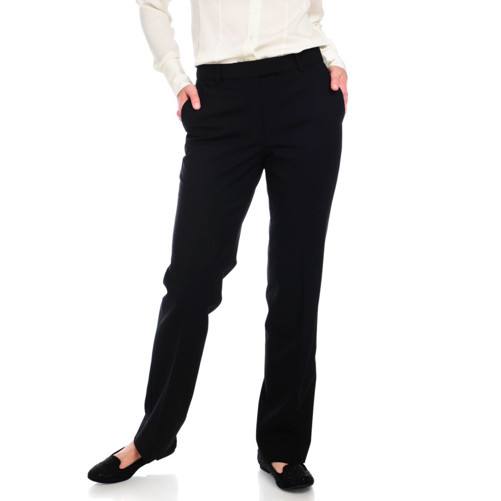 712-679 - Brooks Brothers& reg; Classic Wool Straight Leg Fully Lined Four-Pocket Pants