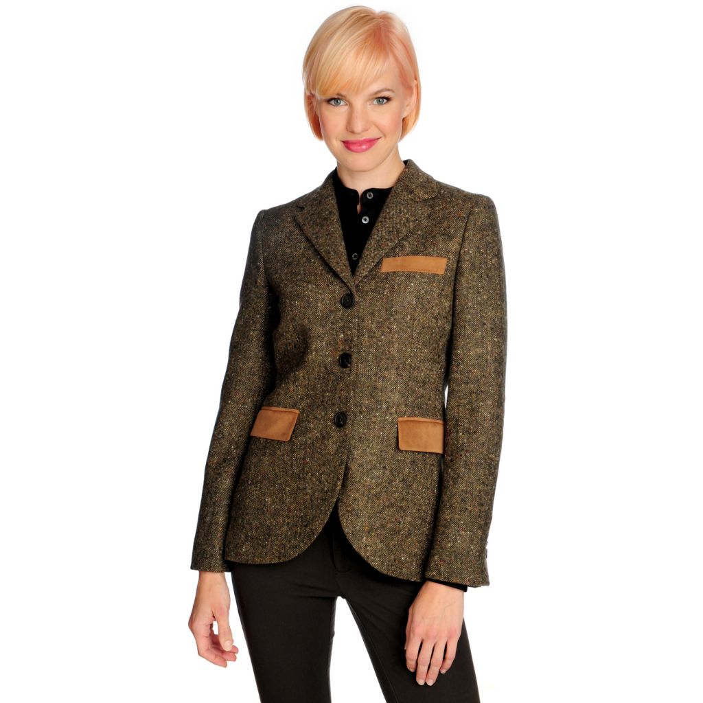 712-680 - Brooks Brothers® Novelty Wool Long Sleeved Three-Button Suit Jacket