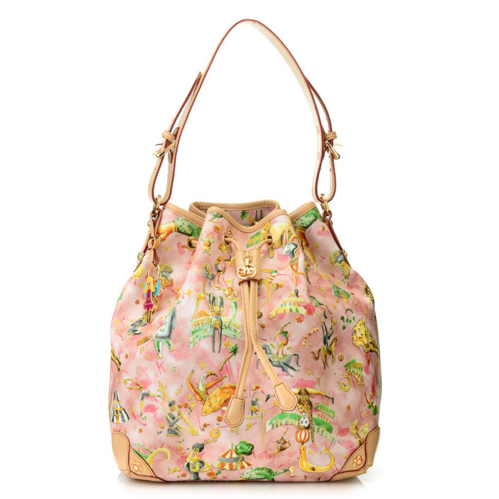 712-727 - Piero Guidi Coated Canvas Magic Circus Cherie Collection Bucket Bag