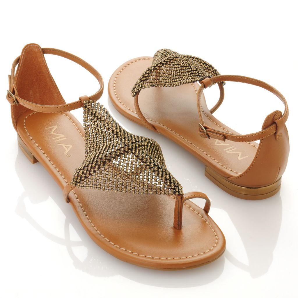 "712-737 - MIA ""Armor"" Rhinestone Detailed Sandals"
