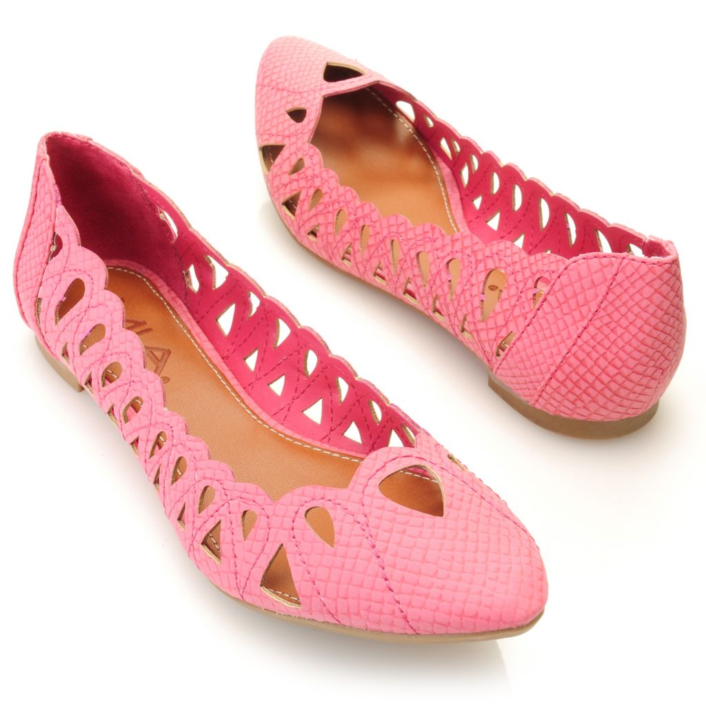 """712-738 - MIA """"Nomad"""" Cut-out Pointed Toe Ballet Flats"""