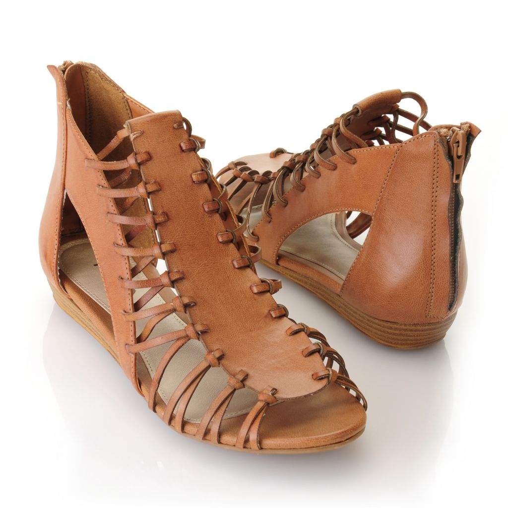 "712-740 - MIA ""Lucille"" Strappy Cut-out Wedge Sandals"