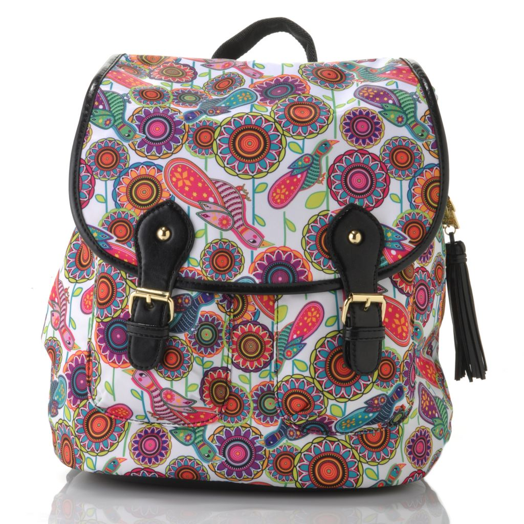 712-768 - BollyDoll™ Printed Flap Over & Drawstring Backpack