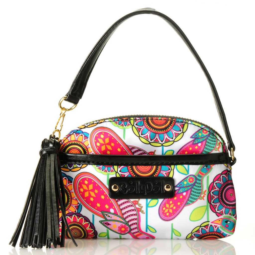 712-771 - BollyDoll™ Printed Zip Top Tasseled Wristlet