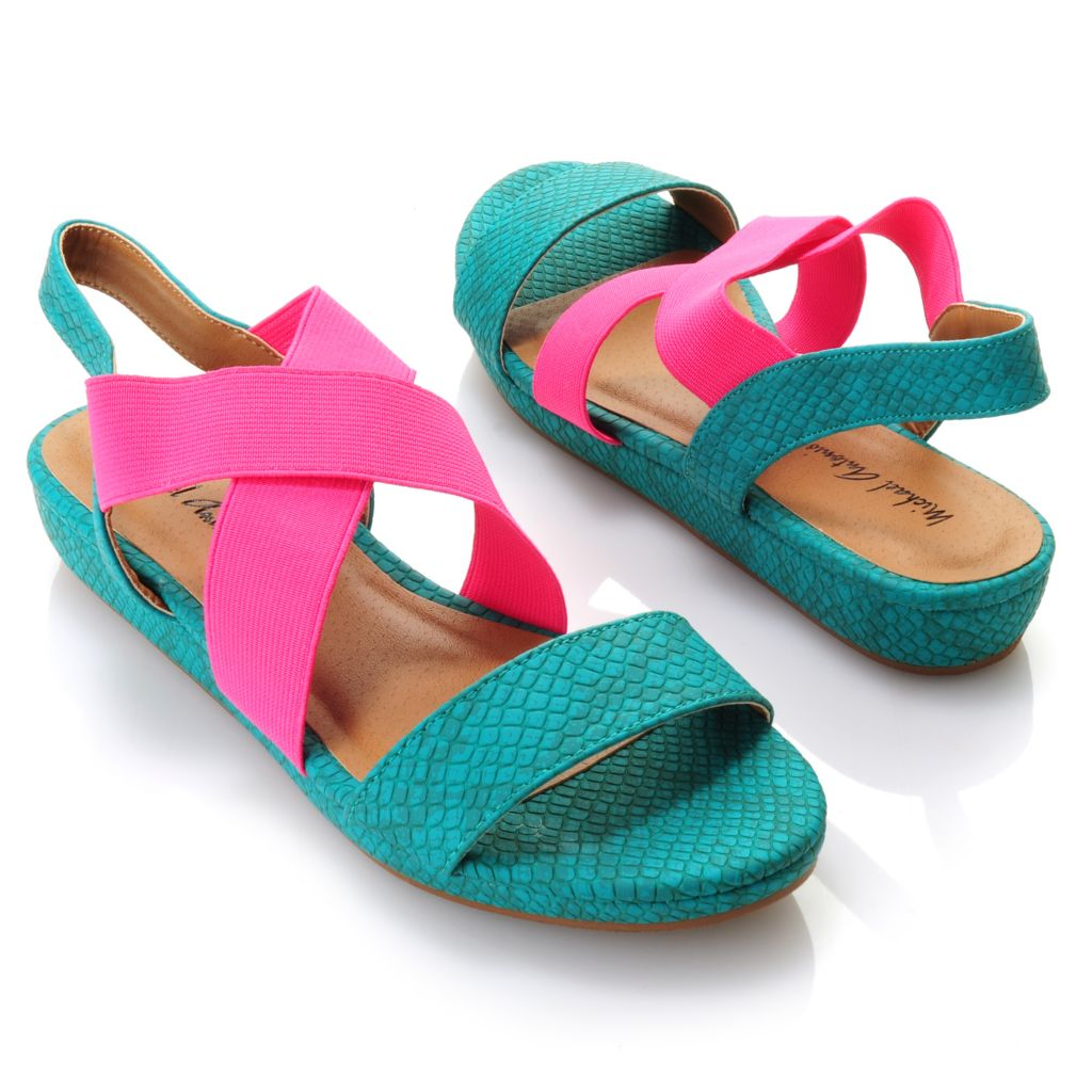 "712-812 - Michael Antonio® ""Duncan"" Crisscross Slip-on Sandals"