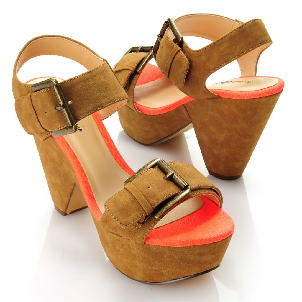 "712-822 - Michael Antonio® ""Gattas"" Cut-out Wedge Sandals"