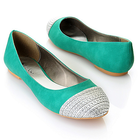 712-823 - Michael Antonio® ''Plaza'' Metallic Capped Toe Ballet Flats