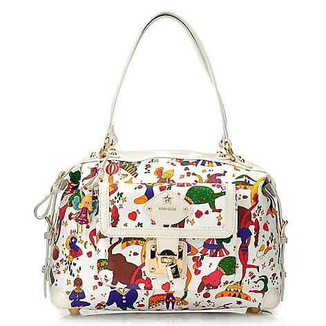 712-828 - Piero Guidi Coated Canvas Magic Circus Collection Double Handle Tote Bag