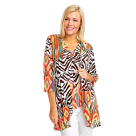 712-893 - Kate & Mallory Stretch Knit 3/4 Sleeved Open Cardigan & Tank Set