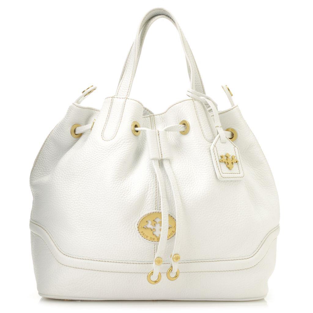 PRIX DE DRESSAGE Pebbled Leather Drawstring Bucket Bag - 712-968