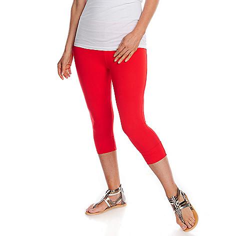 712-998 - WD.NY Stretch Knit Elastic Waist Cropped Cuffed Leggings