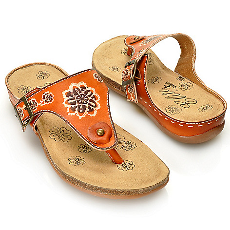 713-135 - Corkys Elite Hand-Painted Leather ''St. Louis'' Thong Sandals