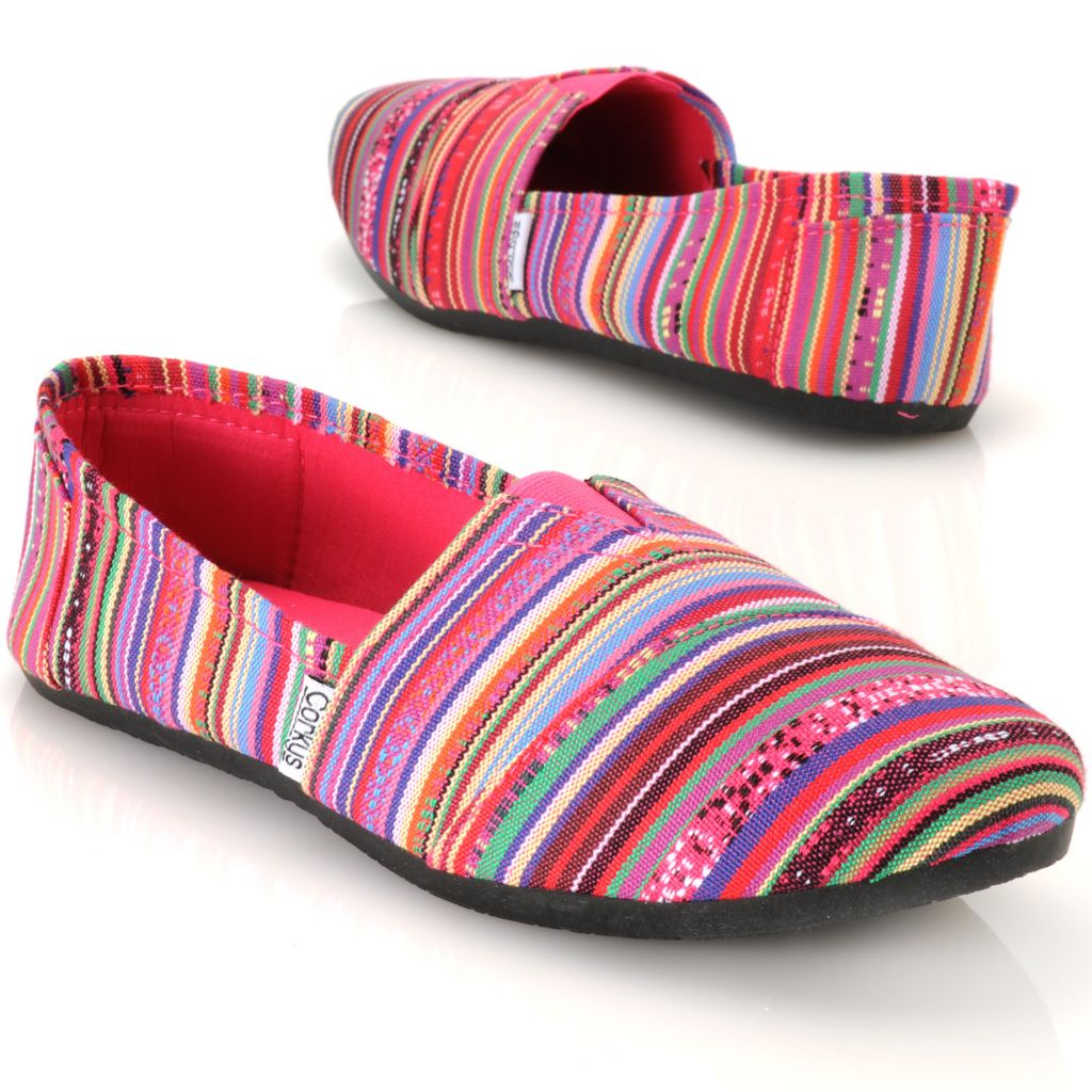 713-141 - Corkys Multi Color Striped Slip-on Shoes