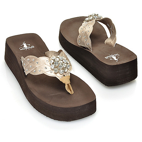713-381 - Corkys ''Cutie Pie'' Rhinestone & Concho Detailed Thong Sandals