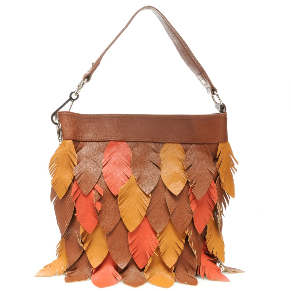 "713-382 - Carlos by Carlos Santana ""Pluma"" Feather Design Tote Bag"