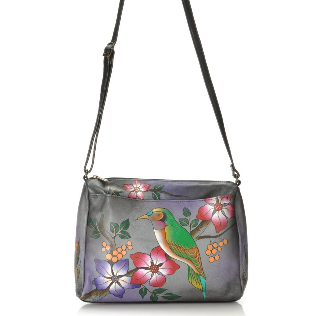 713-388 - Anuschka Hand-Painted Leather Medium Cross Body Bag