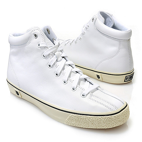 713-412 - K-Swiss® Men's Leather ''Clean Laguna High VNZ'' High-Top Sneakers