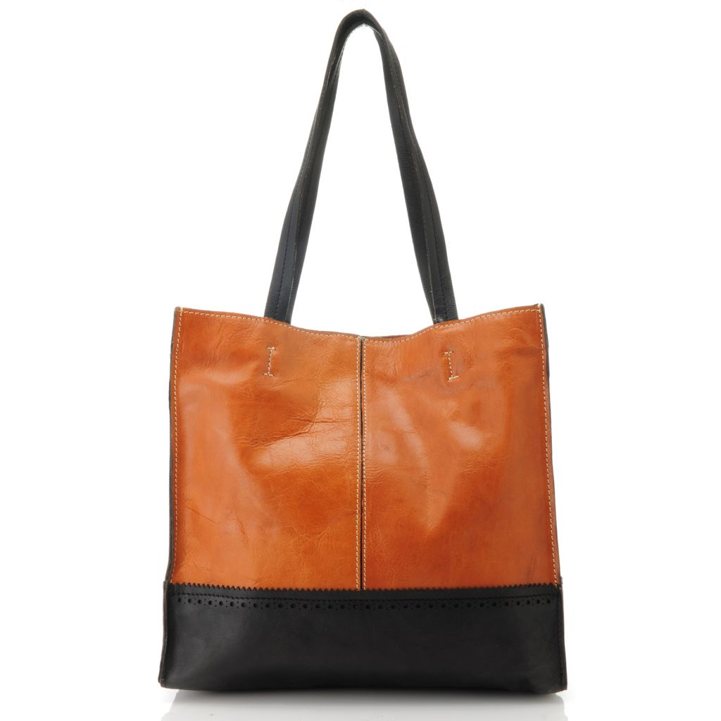 713-418 - Patricia Nash Leather Double Handle Tote Bag