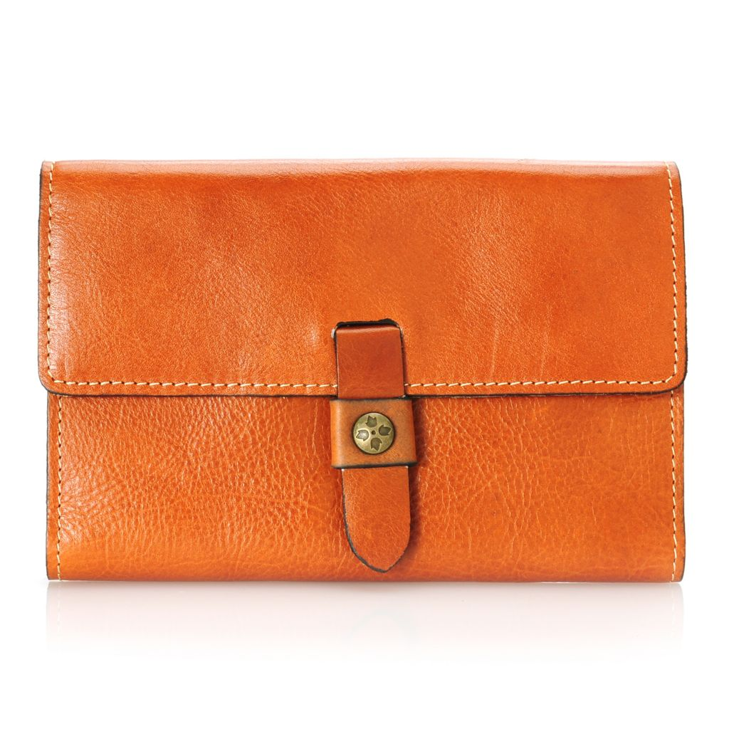 713-419 - Patricia Nash Leather Oversized Tri-Fold Wallet