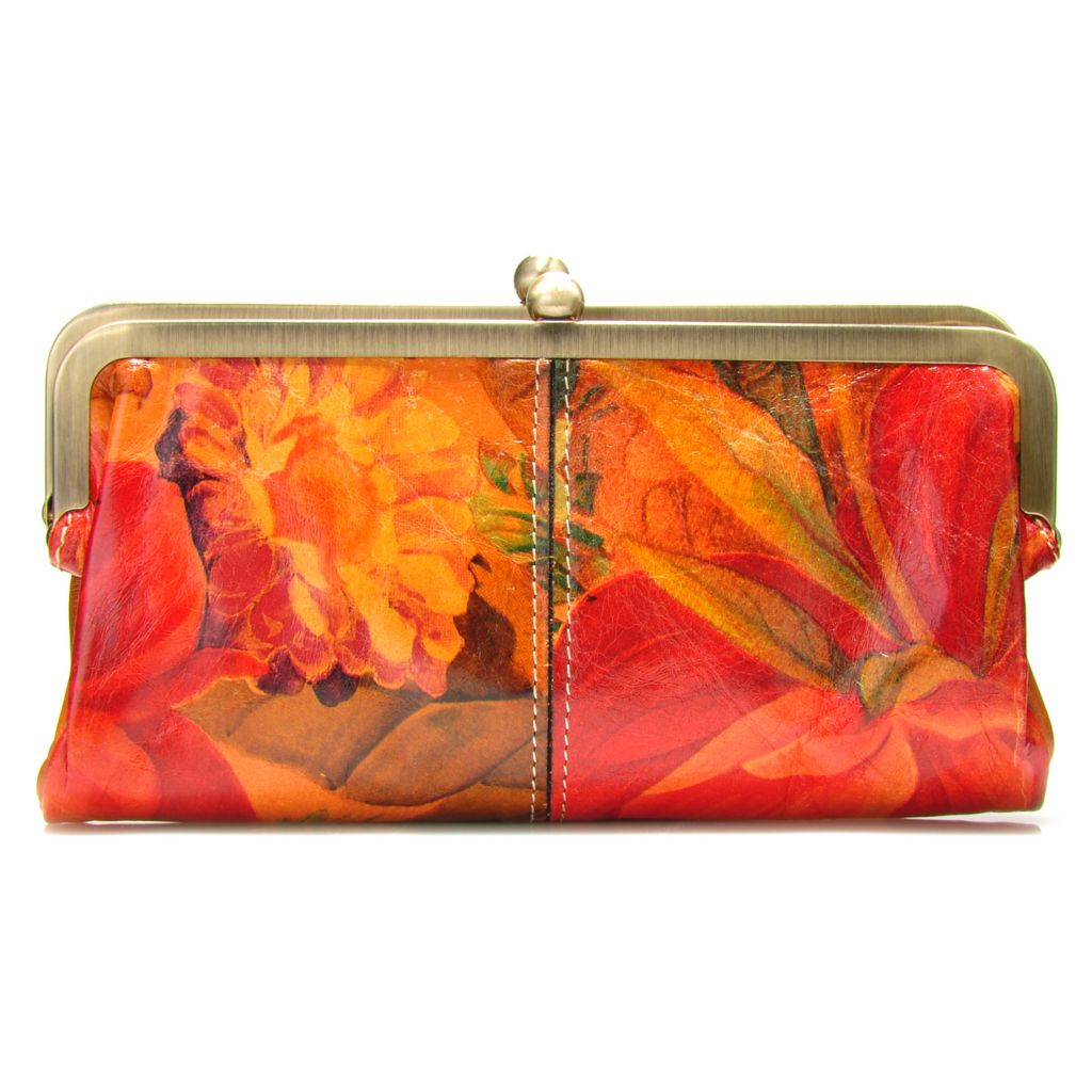 713-437 - Patrica Nash Leather Double Frame Clutch Wallet