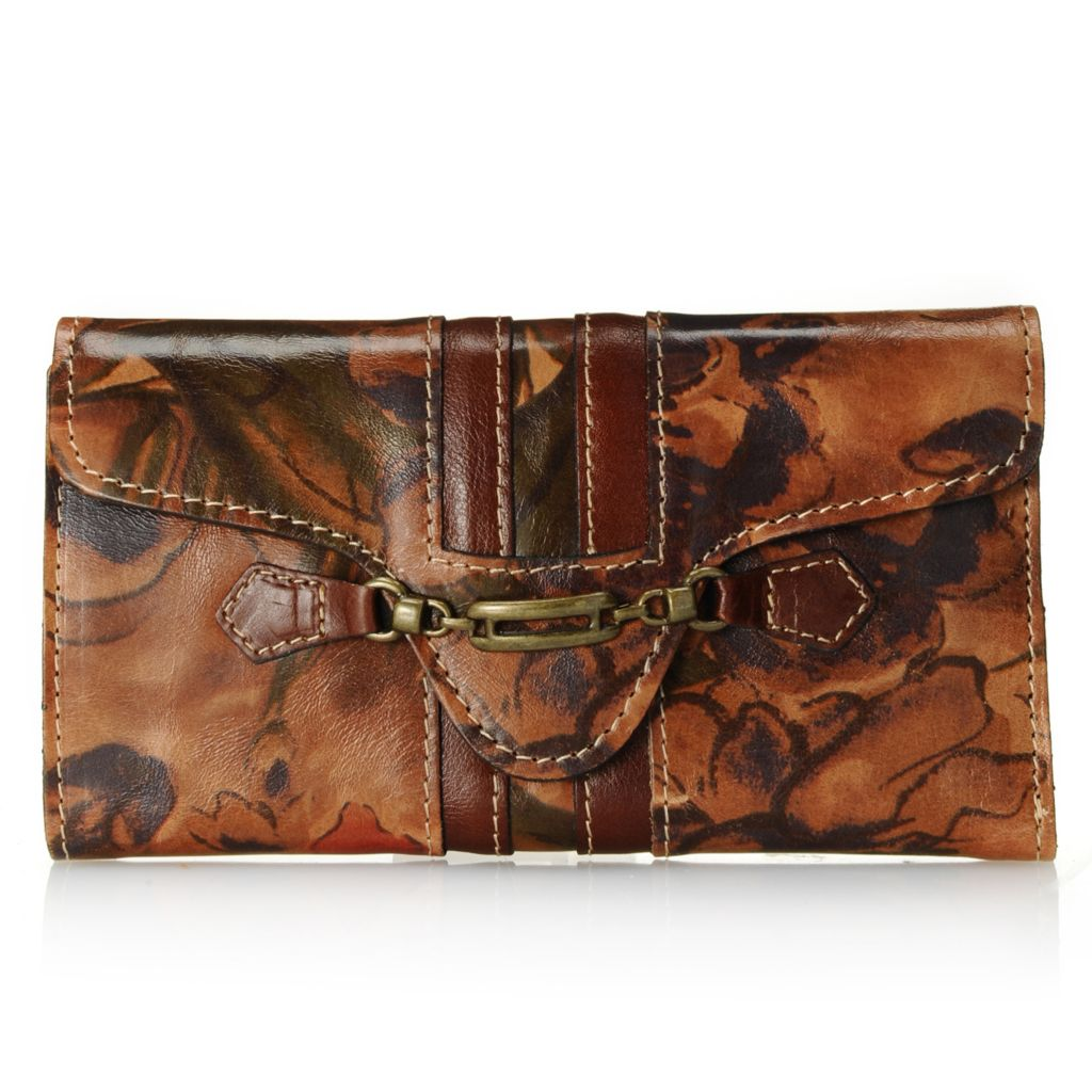 713-438 - Patricia Nash Leather Tri-Fold Wallet