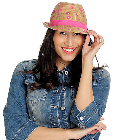 713-444 - Collection XIIX Daisy Printed Fedora Hat