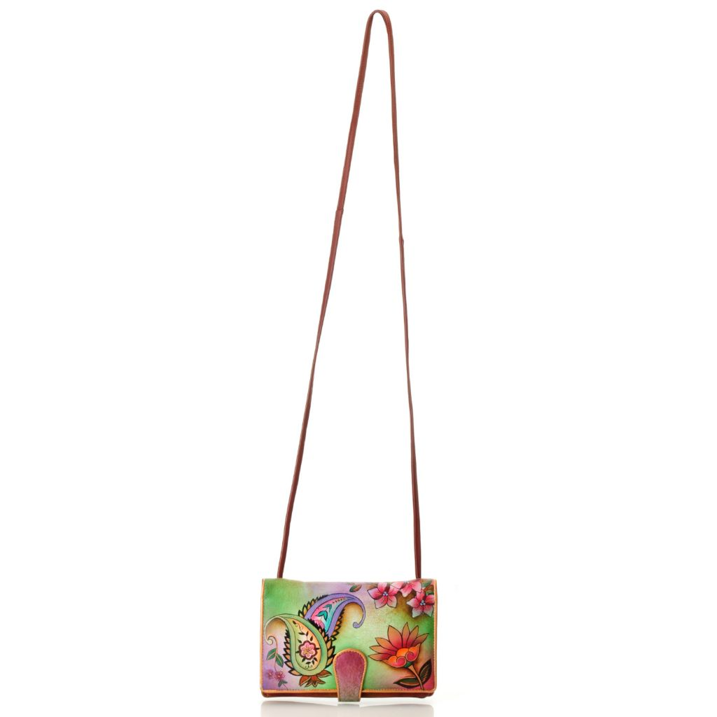 713-498 - Anuschka Hand-Painted Leather Two-Fold Wallet on a String