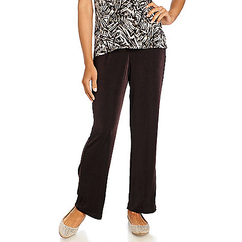 713-605 - Affinity for Knits™ Essentials Elastic Waist Straight Leg Pull-on Pants