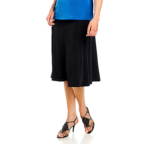 713-612 - Affinity Travel Knits™ Elastic Waist Top-Stitched Yoke Six Gore Skirt
