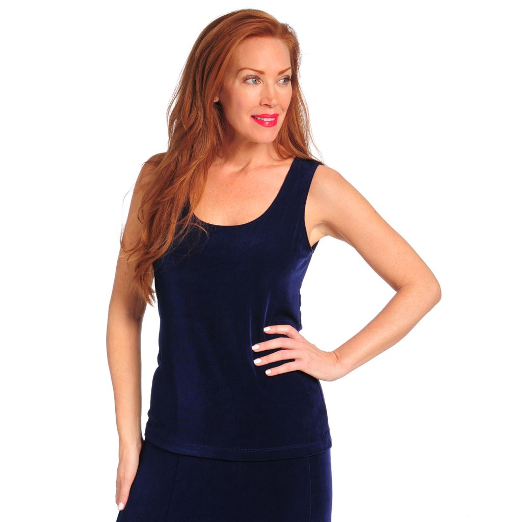 713-614 - Affinity for Knits™ Sleeveless Scoop Neck Solid Tank Top