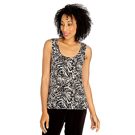 713-615 - Affinity for Knits™ Sleeveless Scoop Neck Foil Printed Tank
