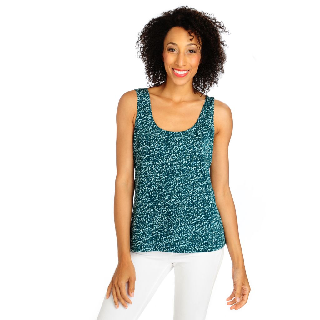 713-616 - Affinity for Knits™ Sleeveless Scoop Neck Printed Tank Top