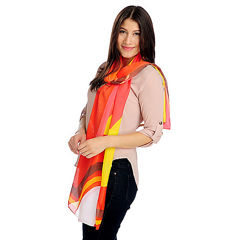 713-621 - Collection XIIX Multi Color Geometric Scarf