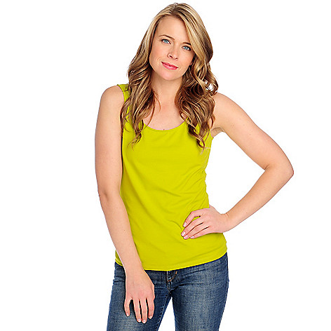 713-646 - Kate & Mallory Stretch Knit Wide Strap Scoop Neck Tank Top