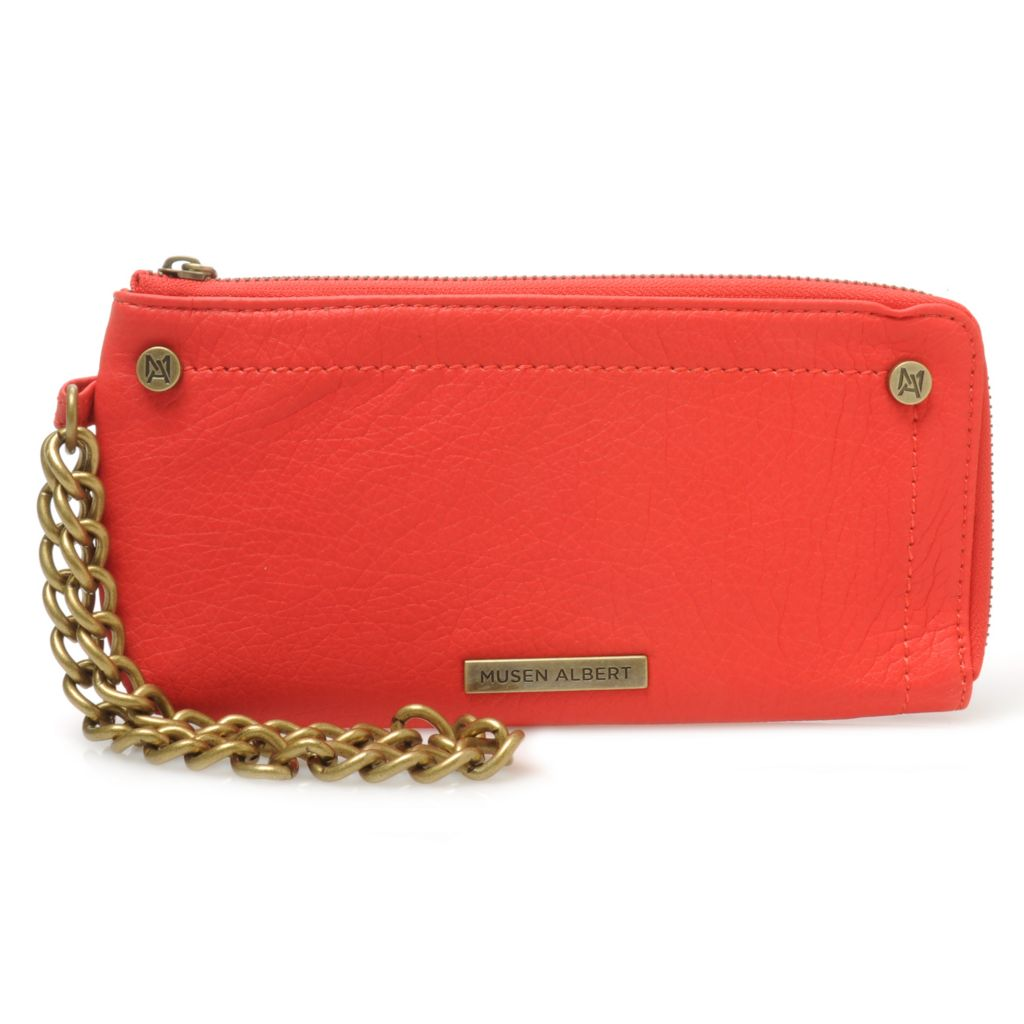 713-715 - Musen Albert Chain Detailed Wristlet Wallet