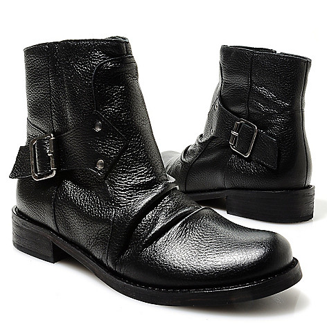 713-729 - Matisse® Leather Buckle & Scrunch Detailed Short Boots