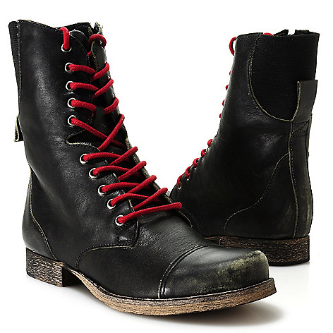 713-732 - Matisse® Leather Side Zip Lace-up Boots
