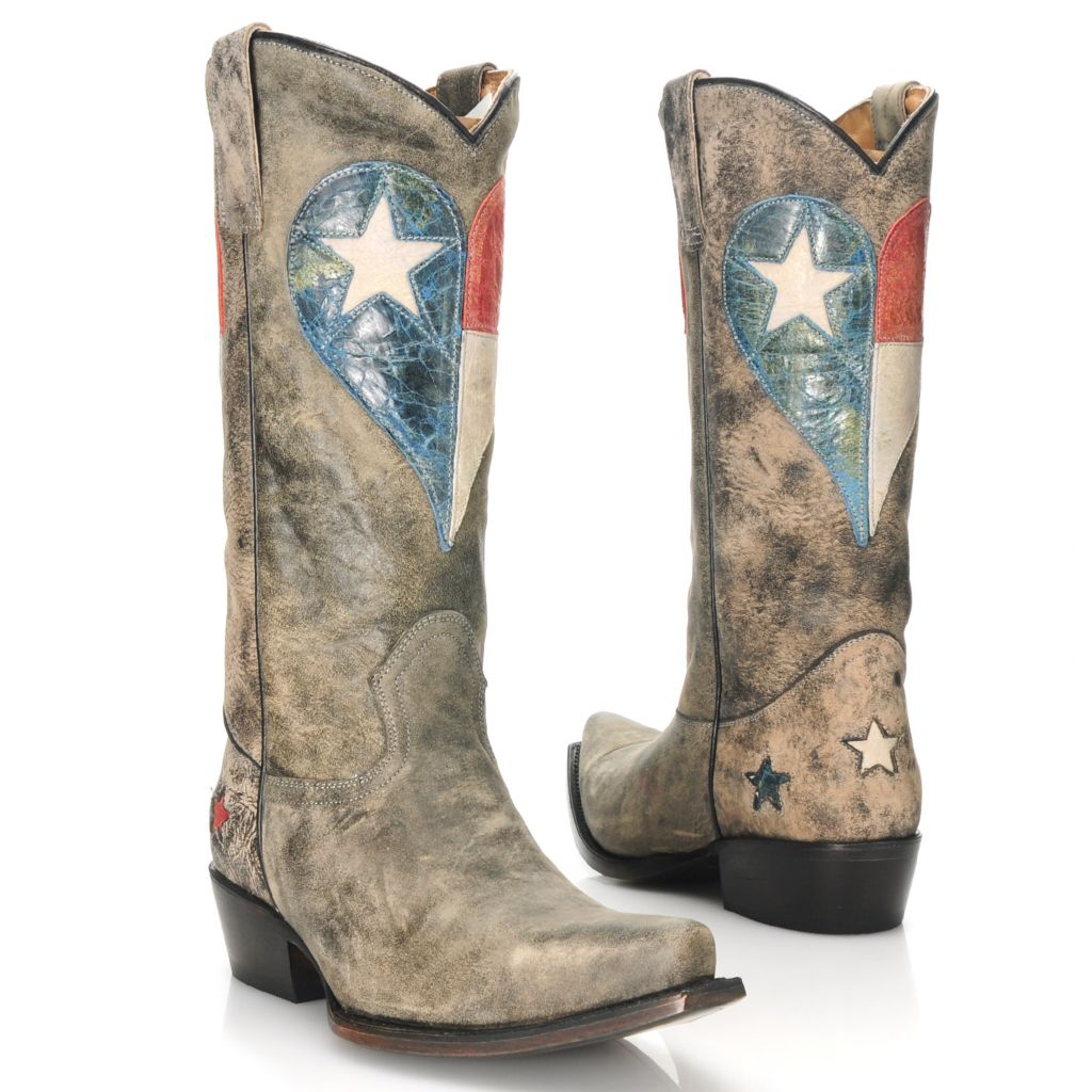 713-735 - Matisse® Distressed Leather Western-Inspired Snip Toe Boots
