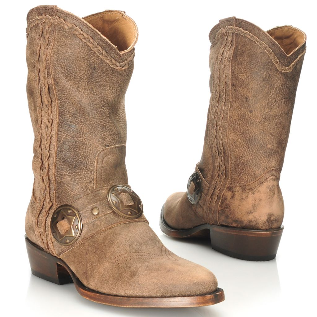 713-736 - Matisse® Leather Braid & Concho Detailed Western-Inspired Tall Boots