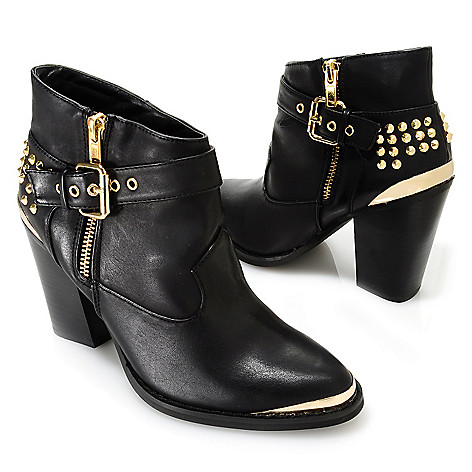 713-747 - Matisse® Studded Metal Tipped Buckle Detailed Ankle Boots