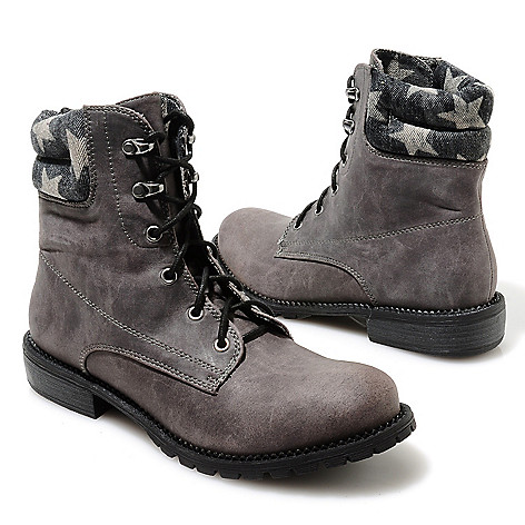 713-749 - Matisse® ''Lumberjack'' Lace-up Star Collar Hiking-Inspired Boots