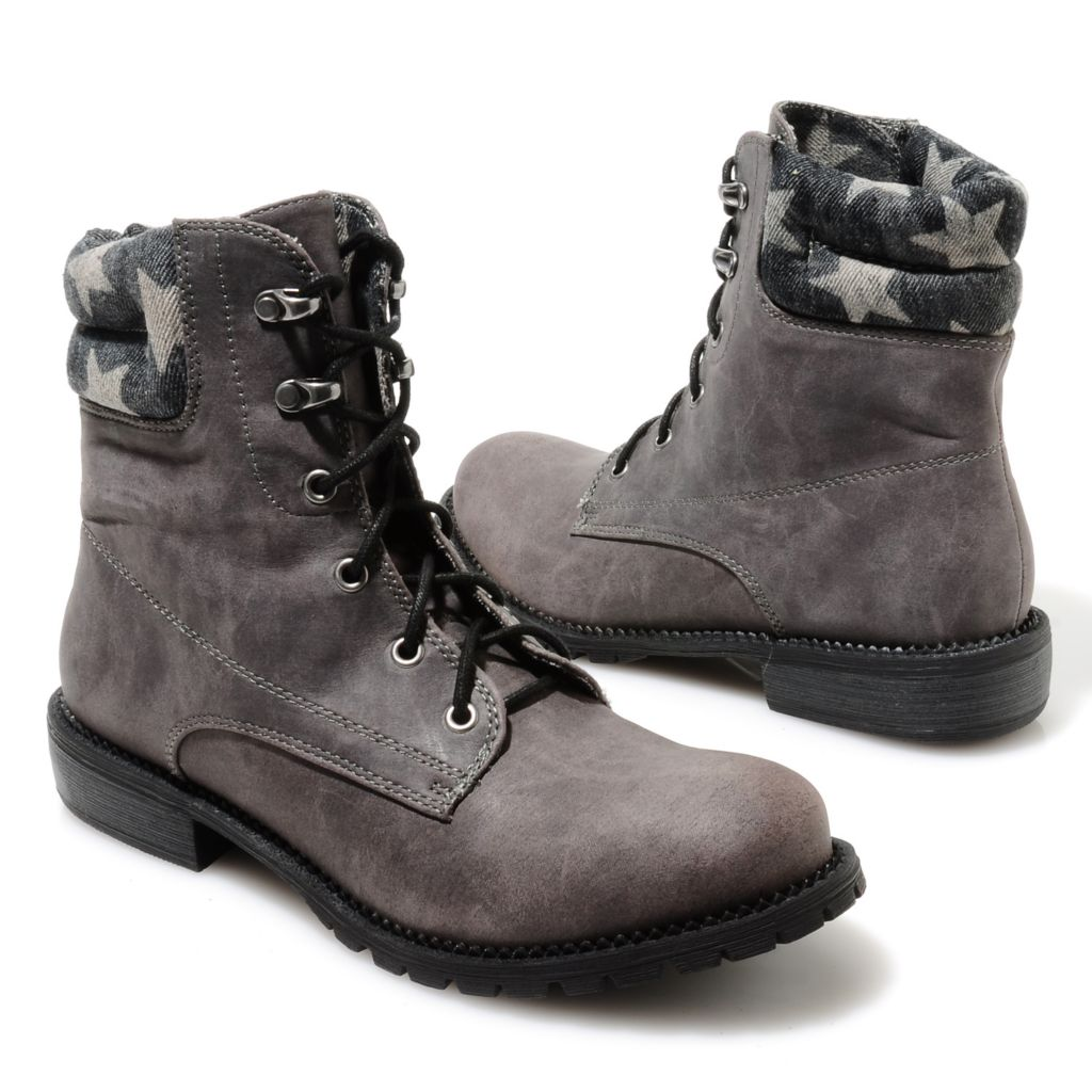 713-749 - Matisse® Lace-up Star Collar Hiking-Inspired Boots