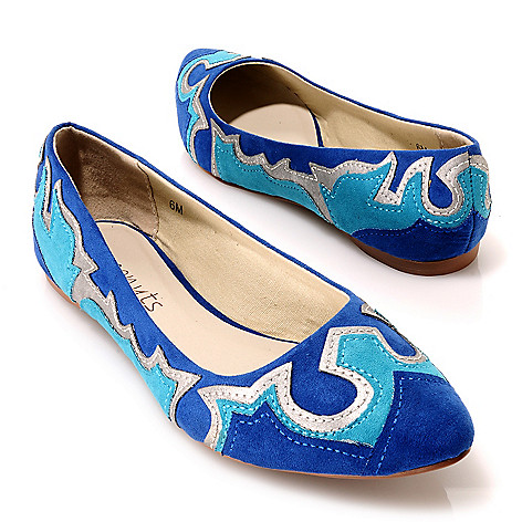 713-755 - Matisse® Appliqué Detailed Pointed Toe Ballet Flats