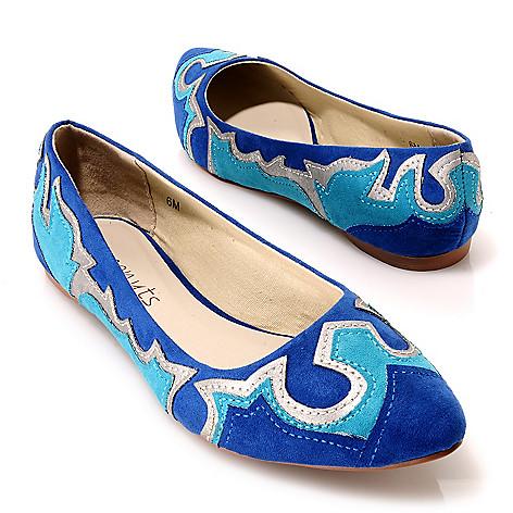 713-755 - Matisse® Appliqué Detailed Pointed Toe Ballet Flats