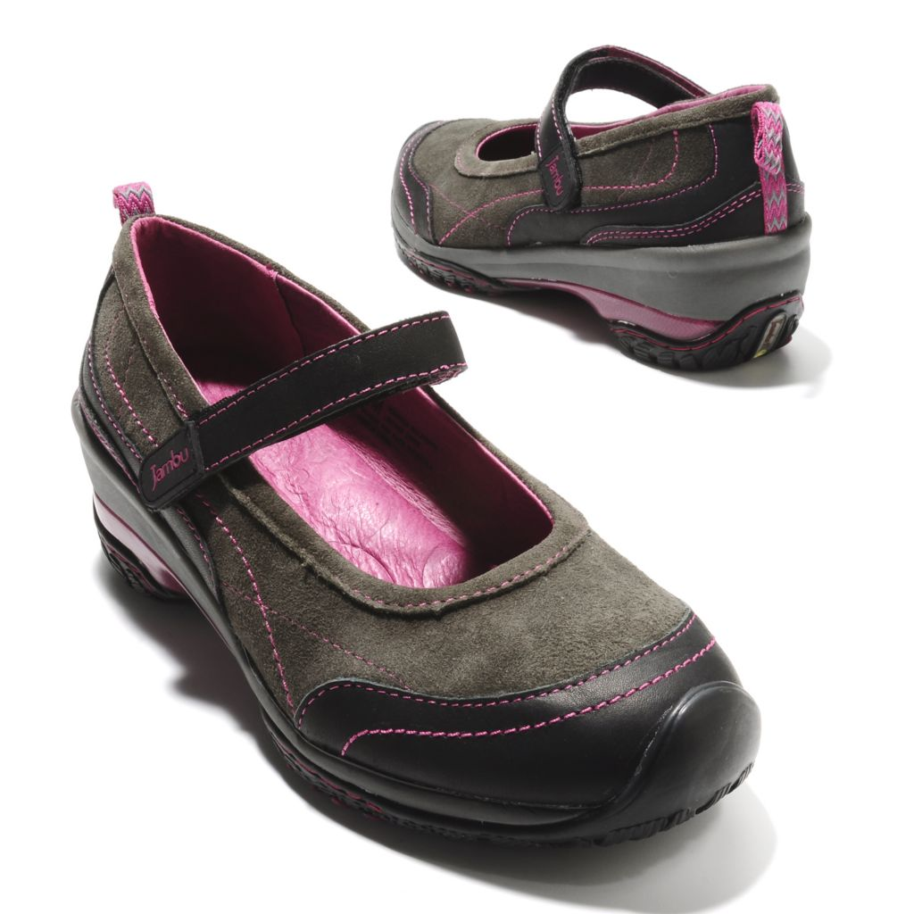 713-761 - Jambu Leather Slip-on Memory Foam Mary Jane Clogs