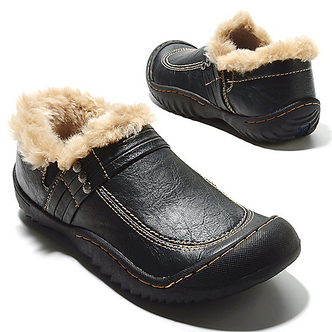713-766 - Jambu Faux Fur Lined Memory Foam Slip-on Clogs