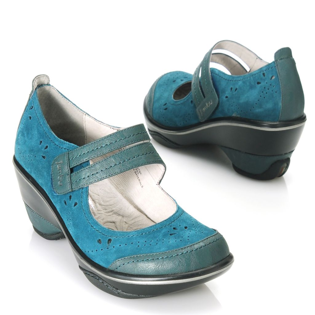 713-767 - Jambu Suede Leather Memory Foam Two-tone Clogs