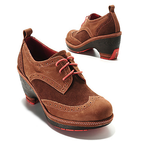 713-769 - Jambu Leather Wedge Heel Oxford Shoes